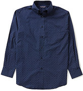 Roundtree & Yorke Long-Sleeve Repeating Print Sportshirt