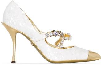 Dolce & Gabbana Lori 90mm crystal embellished pumps