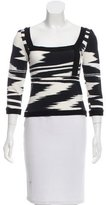 Missoni Abstract Print Knit Top