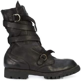 Guidi strappy mid-calf boots