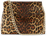 Karen Millen Regent Suede And Leather Bag - Leopard Print