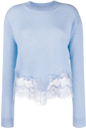 Ermanno Scervino lace-panelled jumper