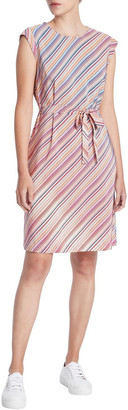 Marcs Retrostripe Silk Dress