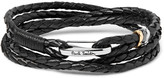 Paul Smith Woven Leather Wrap Bracelet