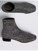 Marks and Spencer Kids' Silver Sparkle Ankle Boots