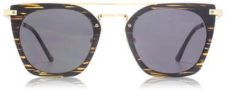 Nine West Flat Top Metal Ladies Sunglasses