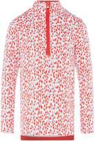 Joules Girls Heart Print Half Zip Sweatshirt