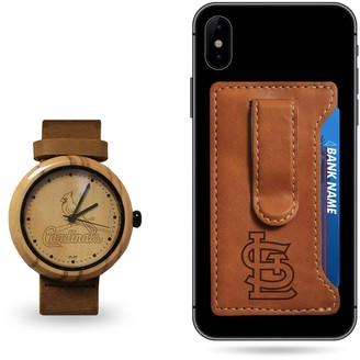 Sparo St. Louis Cardinals Wood Watch and Phone Wallet Gift Set