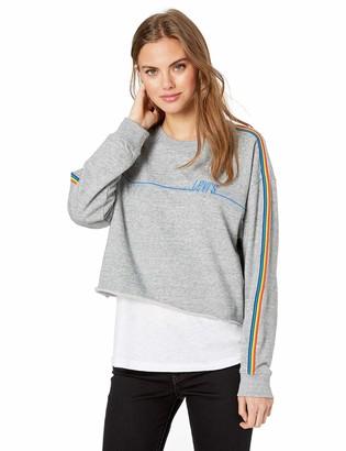 Levi's Women's Graphic Athletic Sweatshirt Crew with Detail Smokestack Heather XX-Large