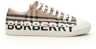 Burberry Logo Checked Sneakers