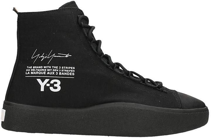 Y-3 Bashyo High Black Sneakers