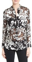 Alice + Olivia Women's Belle Print Sheer Oversize Tunic