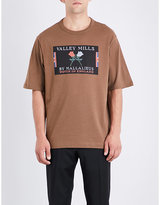 Dries Van Noten Graphic Print Machine Washable Valley Mills Cotton-jersey T-shirt