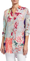 Etro Orchid Patchwork Jersey Tunic