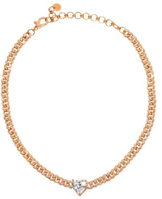 Shay Heart Diamond & 18kt Rose-gold Choker - Rose Gold