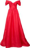 Marchesa off-shoulder dress - women - Silk - 12