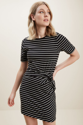 Seed Heritage Jersey Mock Tie Dress
