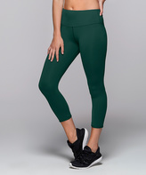 Lorna Jane Jade Green Shannon Core High-Waist 7/8 Leggings