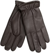 Grandoe Leather Gloves with Gathered Cuffs - Plush Lining (For Men)