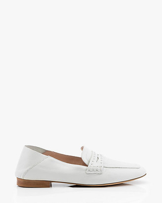 Le Château Studded Leather Collapsible Back Loafer