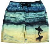 Finger In The Nose Surfer Boy Printed Nylon Swimming Shorts