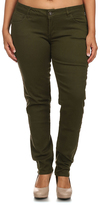 Olive Five-Pocket Skinny Pants - Plus Too