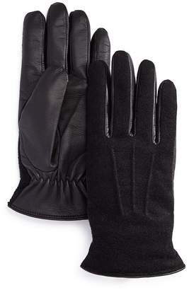 Bloomingdale's The Men's Store at Wool-and-Leather Tech Gloves - 100% Exclusive