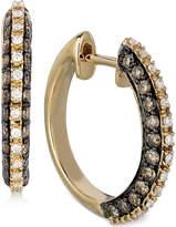LeVian Le Vian Chocolatier Diamond (1 ct. t.w.) Hoop Earrings in 14k Gold