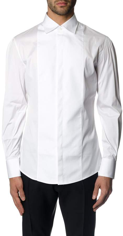 DSQUARED2 White Stretch Cotton Tailored Shirt
