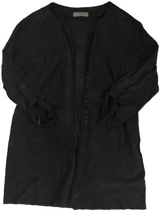 Uterque Navy Suede Coats