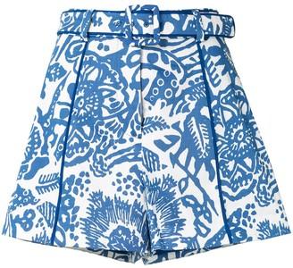 Alexis Lew floral shorts