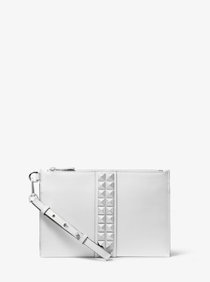 Michael Kors Studded Calf Leather Wristlet