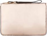 Accessorize Nika Metallic Ziptop Clutch Bag