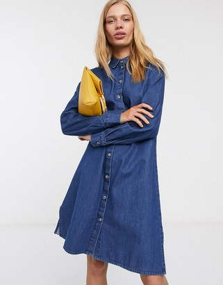 Selected Abigail long sleeve denim shirt dress