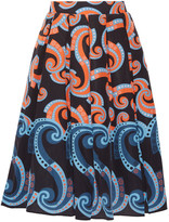 Holly Fulton Pleated printed silk skirt