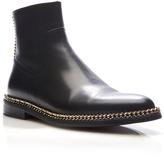 Lanvin Calfskin Chain Boots