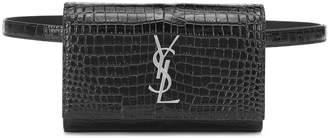 Saint Laurent Kate croc-effect leather belt bag