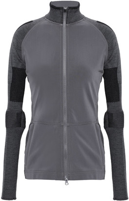 adidas by Stella McCartney Paneled Stretch-jersey And Knitted Jacket