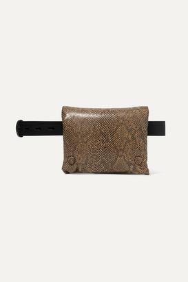 Nanushka Tao Snake-effect Vegan Leather Belt Bag - Snake print