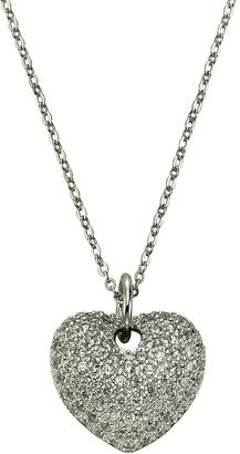 Celesta Women's Necklace with Pendant 925 Silver Rhodium-Plated Round Cut White Zirconia - 45.0 CM - 500244692
