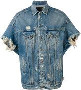 R 13 shortsleeved denim jacket - men - Cotton/Spandex/Elastane - S