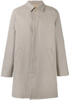 A.P.C. checked button-up coat - men - Cotton/Polyamide - S
