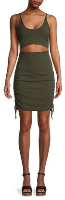 BCBGeneration Ruched Cutout Bodycon Dress