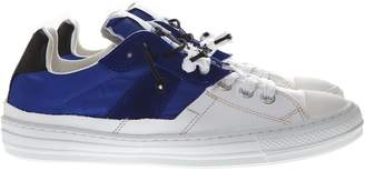 Maison Margiela White & Blue Nylon & Leather Sneaker