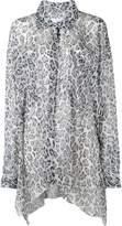Faith Connexion leopard print asymmetric shirt