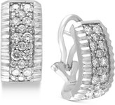 Effy Trio by Diamond Pavé Hoop Earrings (9/10 ct. t.w.) in 14k White or Yellow Gold