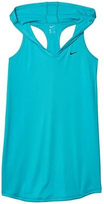 Nike Kids Hooded Dress Cover-Up (Little Kids/Big Kids) (Oracle Aqua) Girl's Swimwear