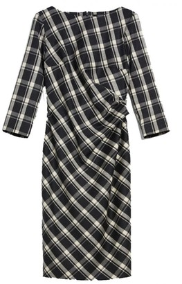 Max Mara Weekend Dark Grey Boat Neckline Fiorina Wool Flannel Dress