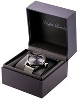English Laundry Men's Watch EL7596NY236-104 Blue Steel, Black Dial, Mesh Bracelet
