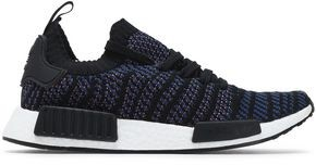 adidas Nmd R1 Leather-trimmed Jacquard-knit Sneakers